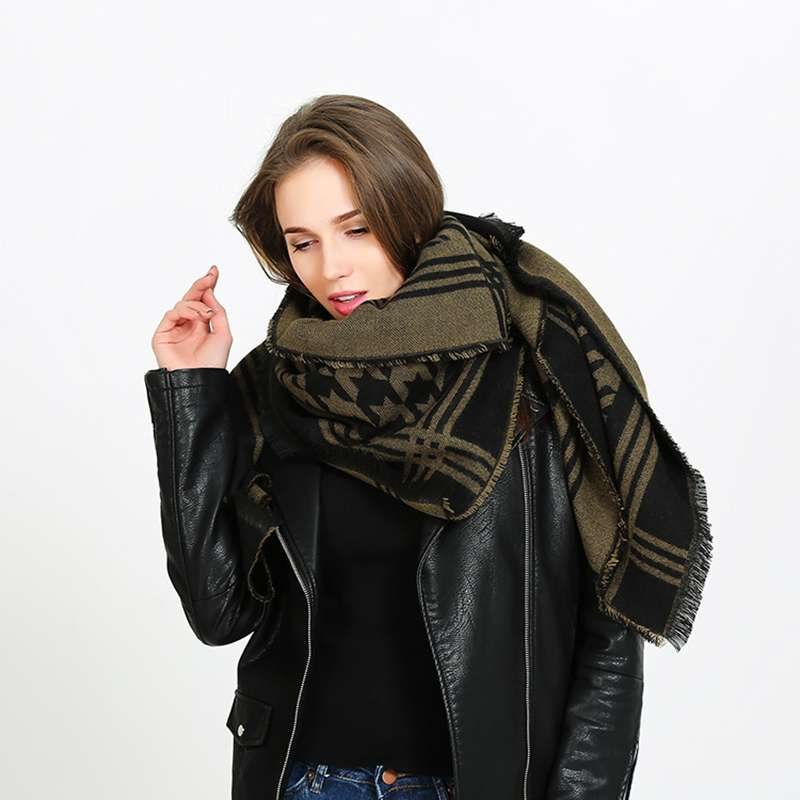 Winter Women Scarf Houndstooth Pashmina Shawls And Scarves Wrap Luxury Brand font b Tartan b font