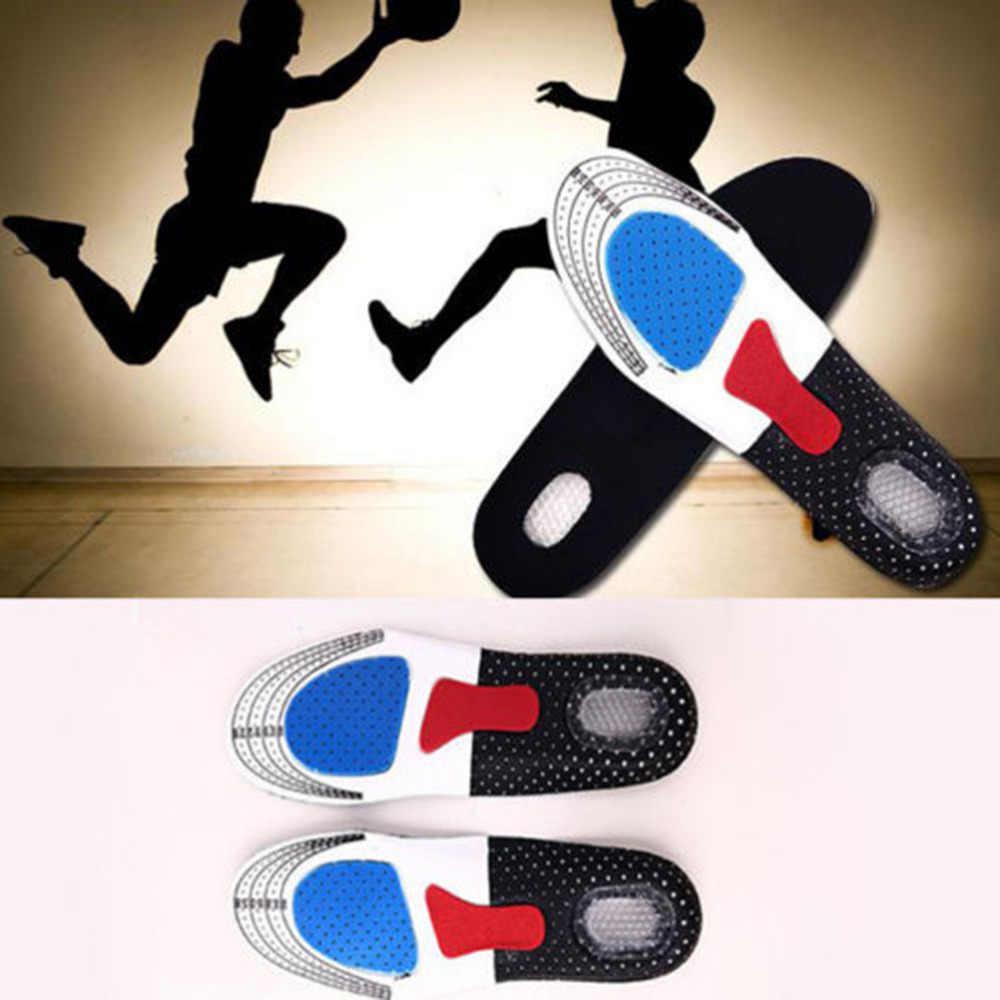 1 คู่ขายร้อน Sport Running Gel Insoles ใส่เบาะสำหรับผู้ชายผู้หญิงขนาดฟรี Unisex Orthotic Arch Support รองเท้า pad