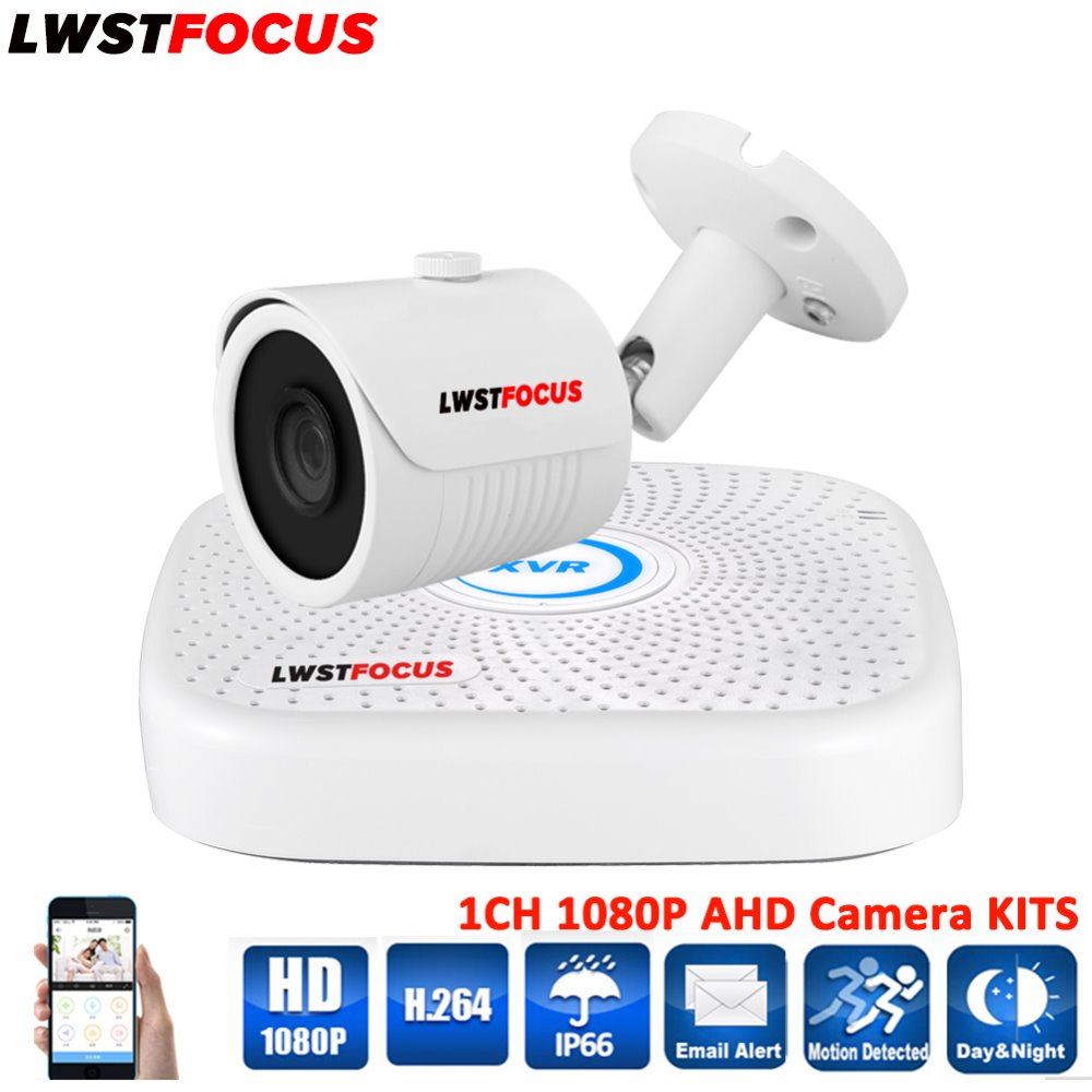 LWSTFOCUS 1080P HD 3000TVL Outdoor Security Camera System 1080P HDMI CCTV Video Surveillance 4CH DVR Kit CCTV AHD Camera Set zosi 1080p 8ch tvi dvr with 8x 1080p hd outdoor home security video surveillance camera system 2tb hard drive white