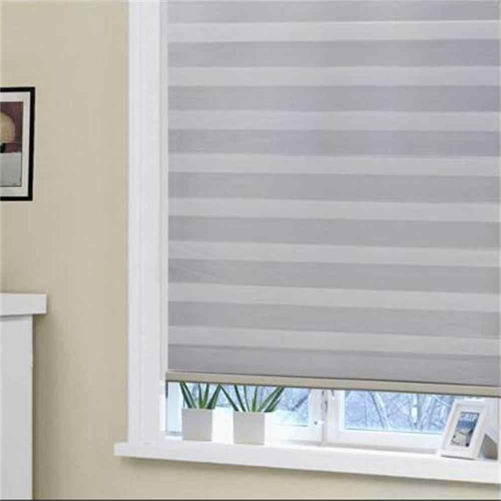 window curtain manual or motorized blackout room darkening 100% blackout zebra blinds
