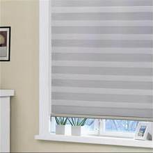 window curtain manual or motorized blackout room darkening 100% blackout zebra blinds(China)