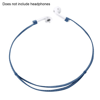 Home Pocket Accessories Earphone Strap Wire Leather Loop Anti-lost Protection Rope Cable String Connector Headphone For AirPods