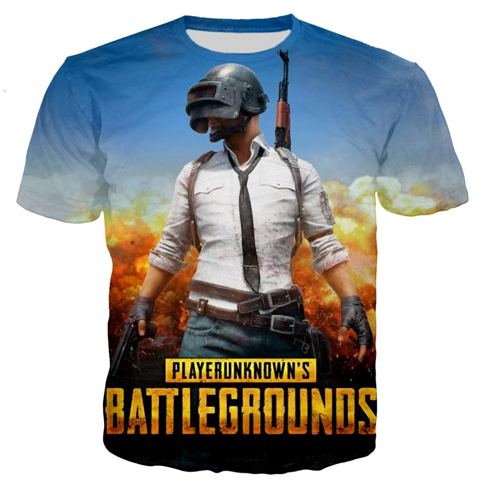PUBG men and women short-sleeved T-shirt casual sweatshirt clothing