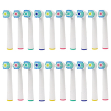 20pcs oral b electric toothbrush replacement heads for braun  brush heads nozzles for vitality tooth brush Sensitive Clean цены