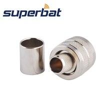 Superbat радиочастотный коаксиальный разъем UHF PL-259 штекер прямой разъем обжимной для RG8 RG213 RG214 LMR400 кабель CB радио адаптер