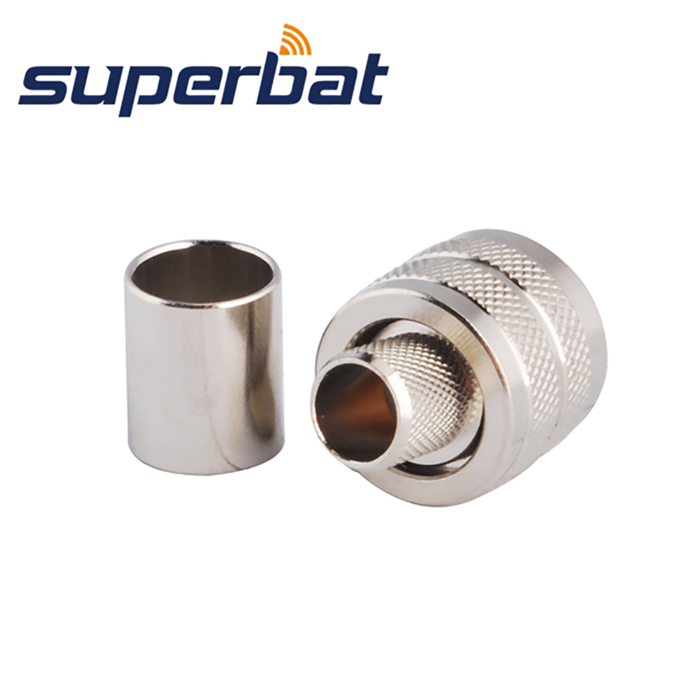 Superbat UHF PL-259 Male Plug Straight Connector Crimp RF Coaxial Connector For RG8 RG213 RG214 LMR400 Cable CB Radio Adapter