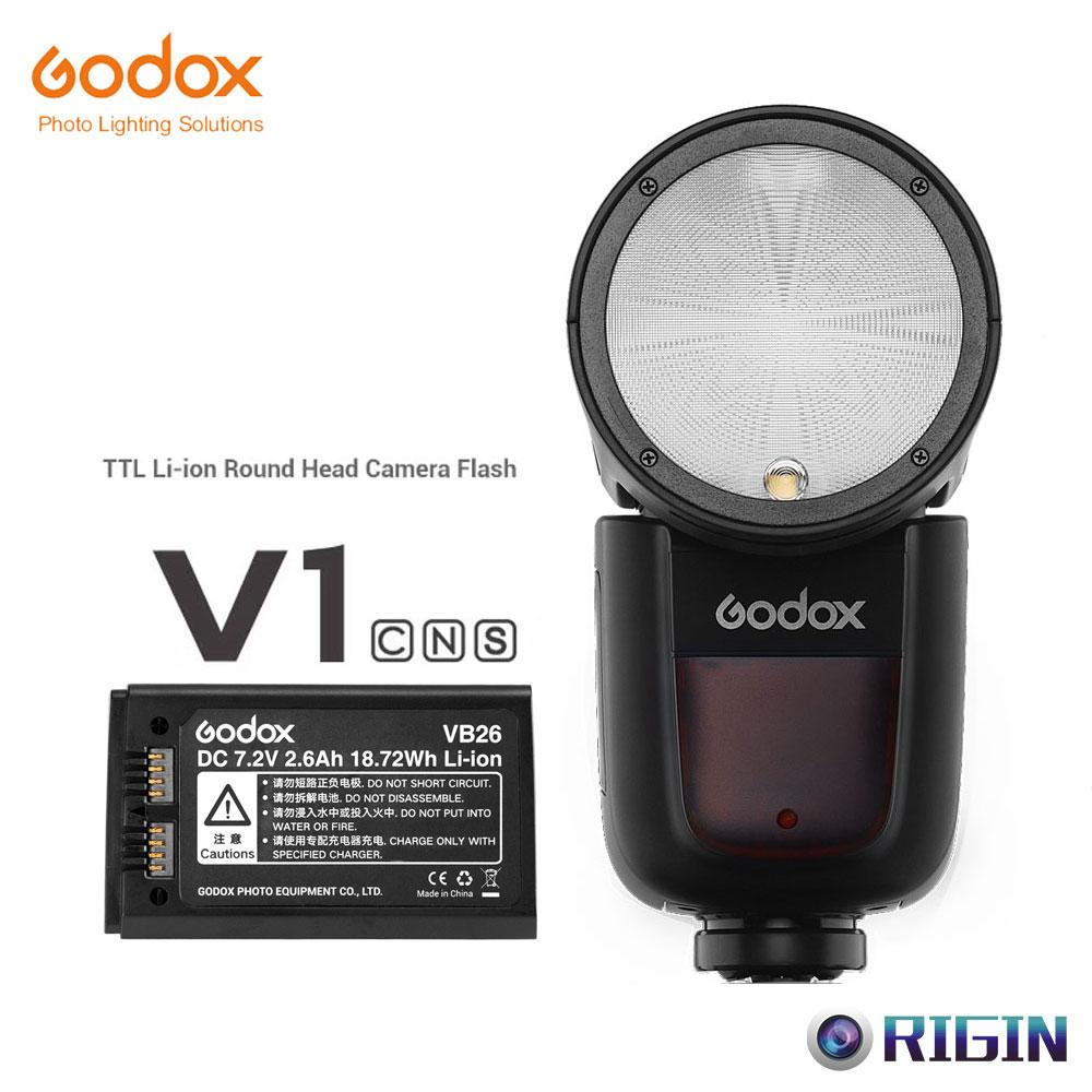 Electronics Flashes GODOX V1-C Round Head Flash Speedlight for ...
