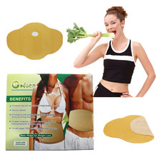 25pcs=5 Boxes Hot Sell Slimming Patch Belly Fat Burning Reduce Weight Efficacy Strong Abdomen Loss Navel Stick