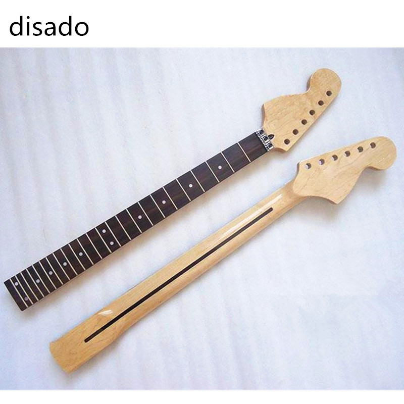 disado 24 Frets guitar accessories maple Reverse Headstock Electric Guitar Neck rosewood fingerboard musical instruments parts