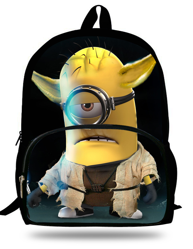 16 inch Cartoon Children Boy Backpack Minions Bag Despicable Me ...
