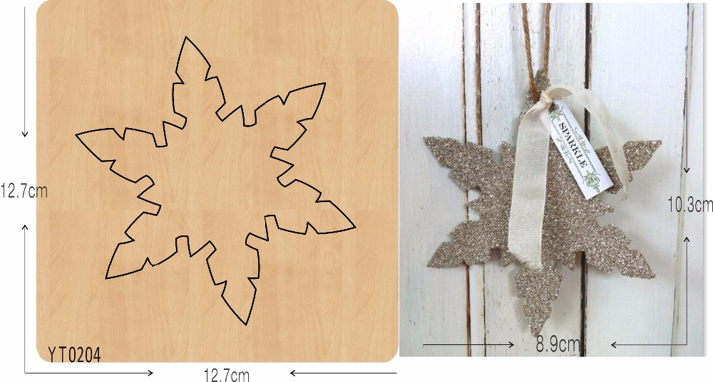 Snowflake hanger new wooden mould cutting dies for scrapbooking Thickness 15 8mm YT0204