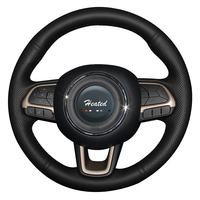 Steering Wheel Cover for Jeep Compass 2017 Renegade 2016 2017 Artificial Leather Braid on the steering wheel