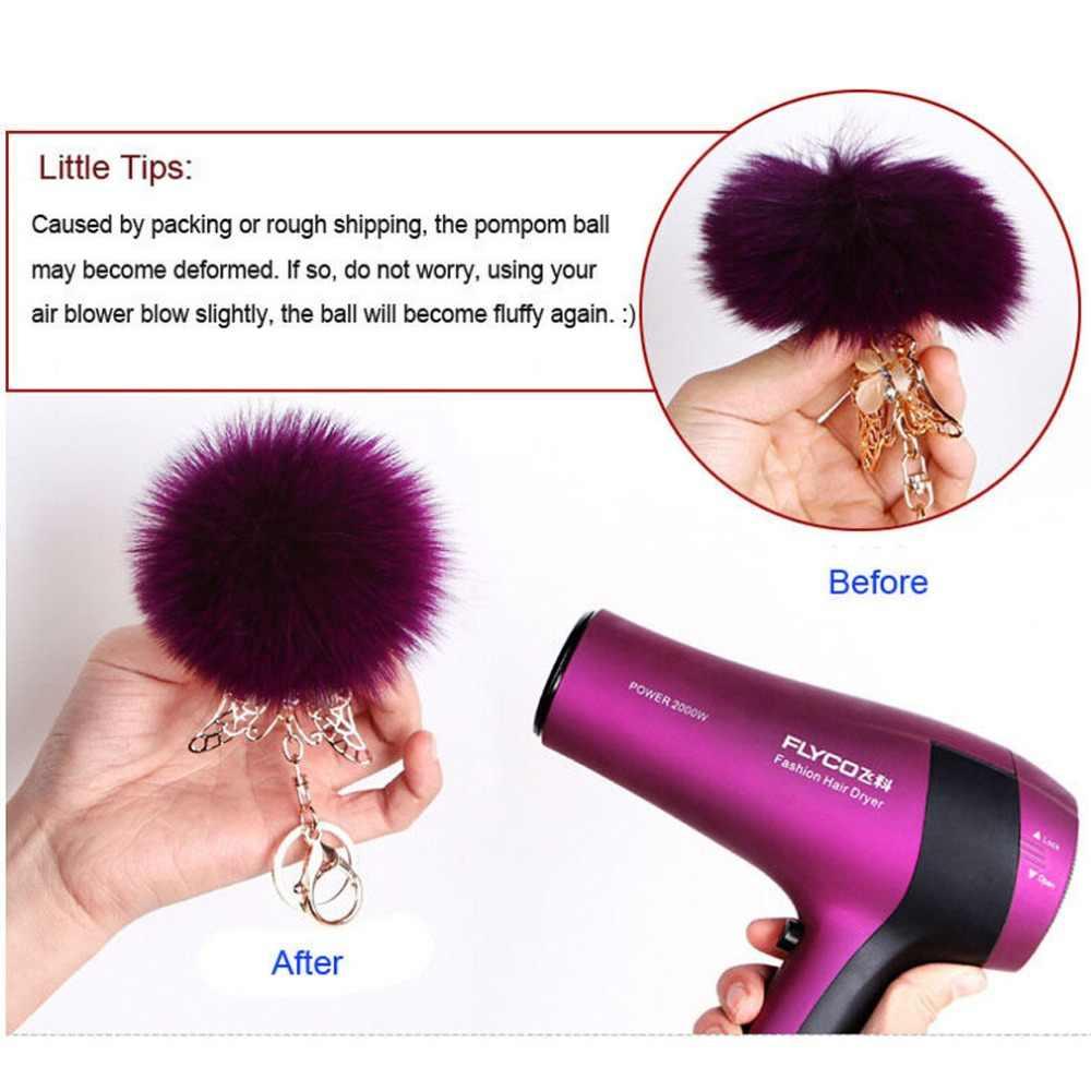... Furling 1PC first Fluffy Large 12CM Faux Fox Fur Pom pom Ball Key Chain Purse  Bag 88d32723739a1