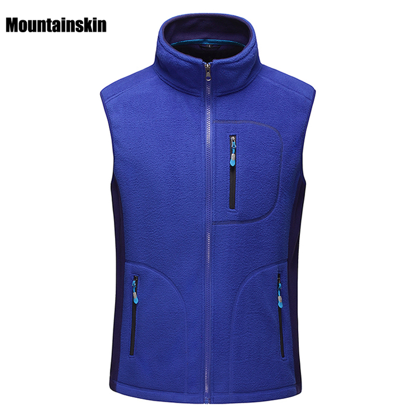 Men Autumn Winter Outdoor Sports Fleece Vest Climbing Trekking Sleeveless Jacket Hiking Camping Softshell Windproof Vest RM092