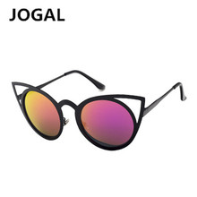 JOGAL Eyewears Women Cat eye Sunglasses Brand Designer New Fashion Gradient Rimless  Vintage  Metal Frame Retro Sunglasses Women