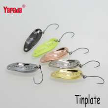 6pcs/lot YAPADA fishing spoon 2.5g 28mm bkk hooks isca artificial metal jig lures baits ice winter carp fishing tackles
