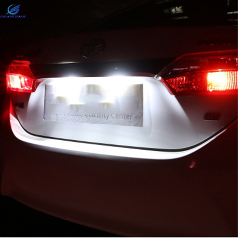 ChuangXiang Car LED Rear License Plate Lamp Light  For Toyota Corolla 14-17 Camry 12-16 VIOS 14-17 YASRIS 14-17 18 smd led license number plate light for toyota camry xv50 corolla fielder nze161 yaris xp150 prius c ractis verso s