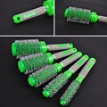 5in1 Salon Green Round Hair Curling Brush Professional Hairdressing Curler Comb For Barbers Styling Tool