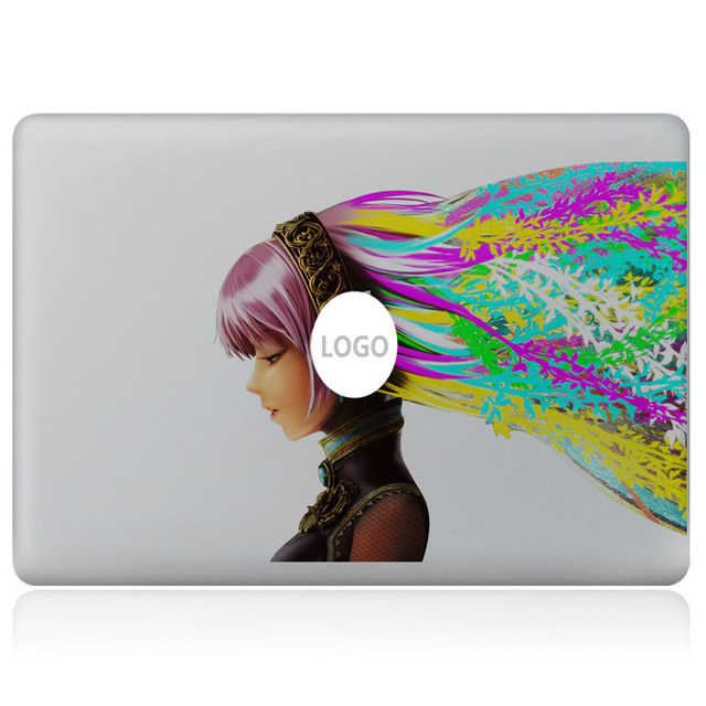 Music dream girl vinyl decal for diy macbook pro 13 15 inch and air 11 13