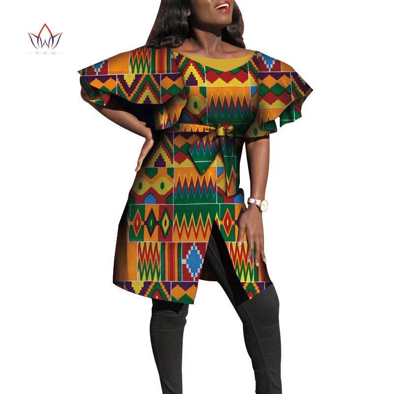 3ac1de209a70 Dashiki vestidos africanos para mujeres Bazin Riche manga grande volantes  vestidos africanos Ankara ...