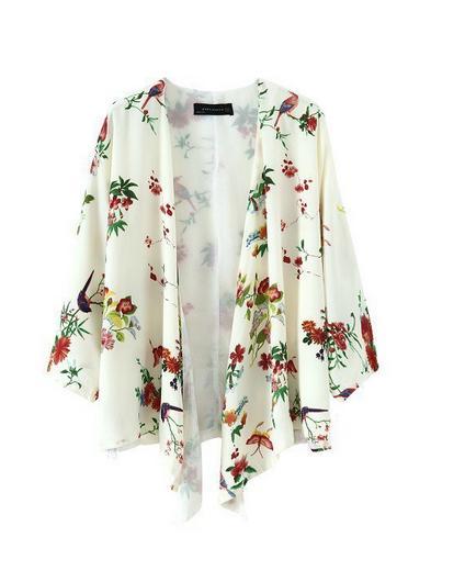 De Femenino Manga 0631 Nueva Cardigan Kimono Verano Europeo El Y Blusas Las Primavera Impreso Murciélago Mujeres 2016 Camisas Estilo qw7ngtT