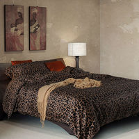 3d leopard print bedding sets 4 piece egyptian cotton satin twin duvet cover queen size bed sheets free shipping