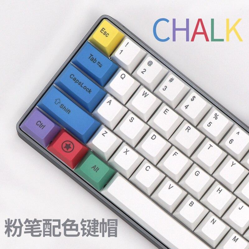 Pbt Keycap Mechanical-Keyboard Chalk Side-Printed BGKP for 104/108-Keys-Top New-Arrival