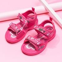 Designer Beach Sandals Shoes Girls Summer Girls Pu Leather Children Sandals Princess Sweet Sandals Girls Rose Red Pink Kids Shoe