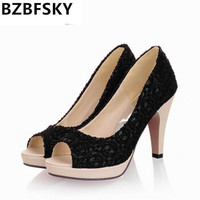 High Quality 2017 New Open Toe High Heels Women Pumps Brand New Shoes Women Sandals Wedding