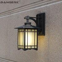Ретро открытый светодиодный настенный светильник E27 водостойкий крыльцо огни бра лампа сад балкон проход алюминиевые светильники