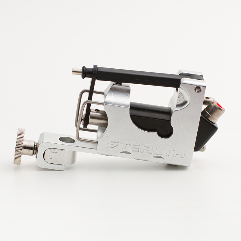 Silver STEALTH 2.0  Aluminum Rotary Tattoo Machine Liner Shader Supply Ink   tattoo gun Free Shipping 4 pcs liner shader tattoo rotary motor gun machine kit set swashdrive