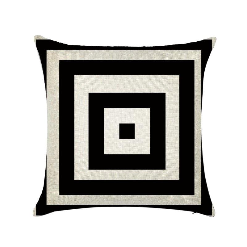 45X45cm Linen Cotton Geometrisch Throw Pillow Cushion Home Sofa Decor