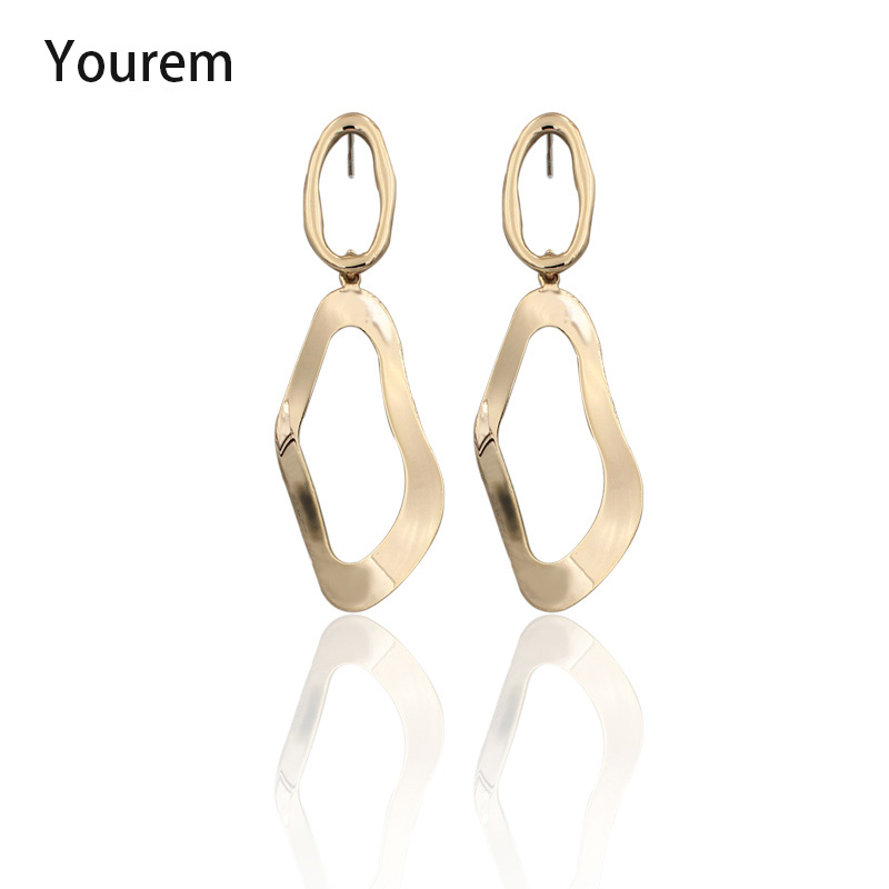 YOUREM Hollow out African Ethnic Irregular dangle earrings for women party club wear jewelry accessories alloy girls gifts wu016