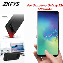 ZKFYS 6000mAh Portable Power Bank Case For Samsung Galaxy S10 Thin And light Fast Phone Charger Battery