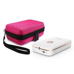 Hard Case for HP Sprocket,EVA Nylon Shockproof Carrying Bag fit Phone Sprocket Portable Photo Printer,Anker Hard Drive(Rose Red)
