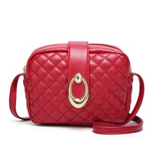 Women's Fashion Shoulder Bag Leather Handbag For Girl Small Square Messenger Bags Waterproof Elegant Casual  Famous  lady purse цена 2017