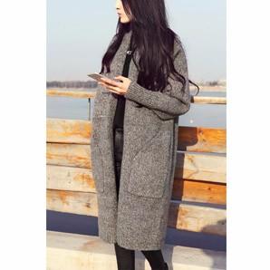 women knit cardigan