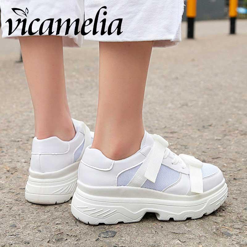 Plat forme Chunky Casual Plate Chaussures 2018 Femme Black Sneakers Talon Noir Papa white Femmes Compensé Mode Vicamelia 261 Blanc 7WAwq0nF