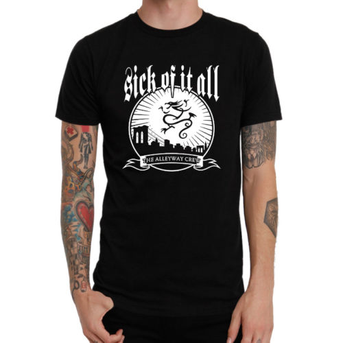 Gildan Sick Of It All Hardcore Punk Band Logo Style New Shirt
