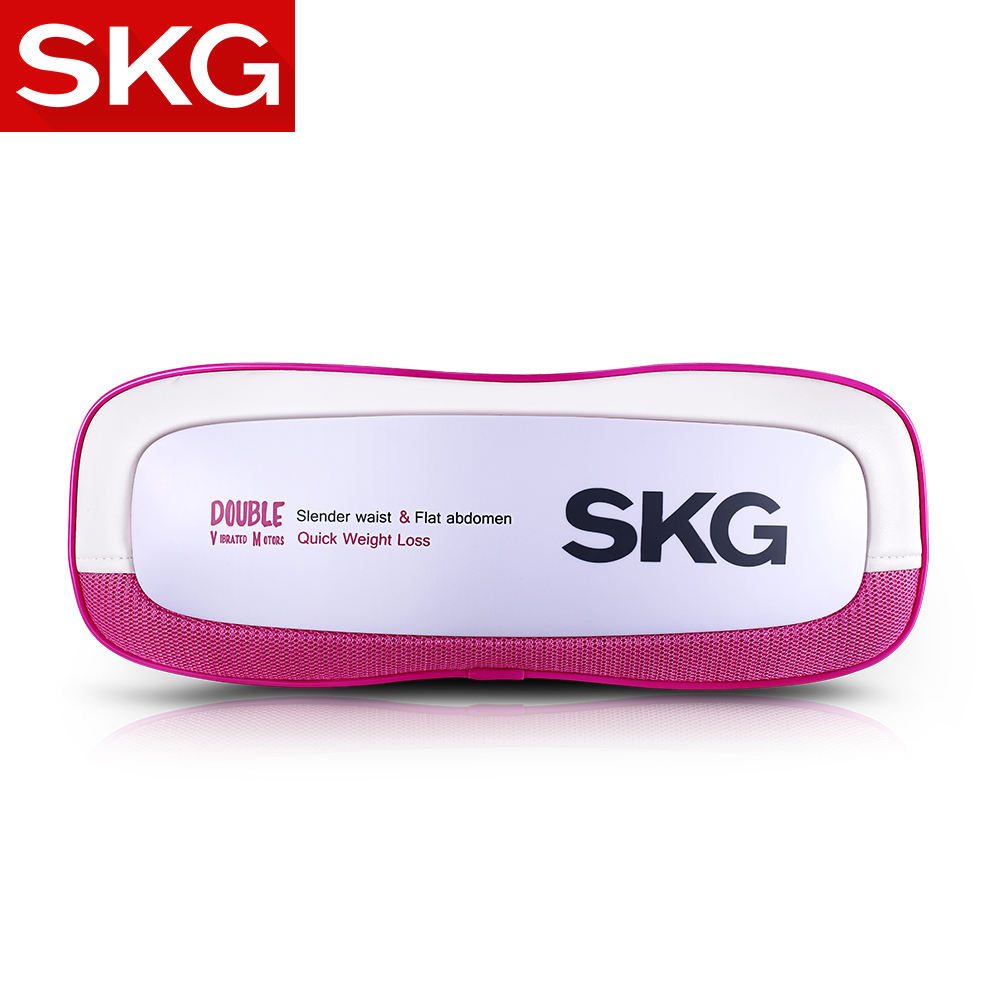 SKG Powerful Twin-motor Weight Loss Slim Belt & Vibration Massager [2-in-1] - High-frequency Vibration Slimming Massage Belt belt cable twin head
