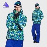 VECTOR Winter Ski Suit Men Warm Windproof Waterproof Skiing Jacket And Pants Male Outdoor Snow Snowboard
