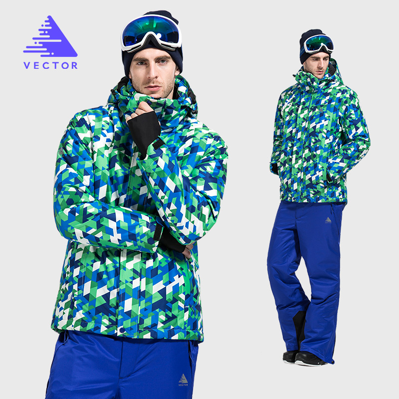 Winter Ski Suit Men Warm Windproof Waterproof Skiing Jacket and Pants Male Outdoor Snow Snowboard Ski Set Brand HXF70012