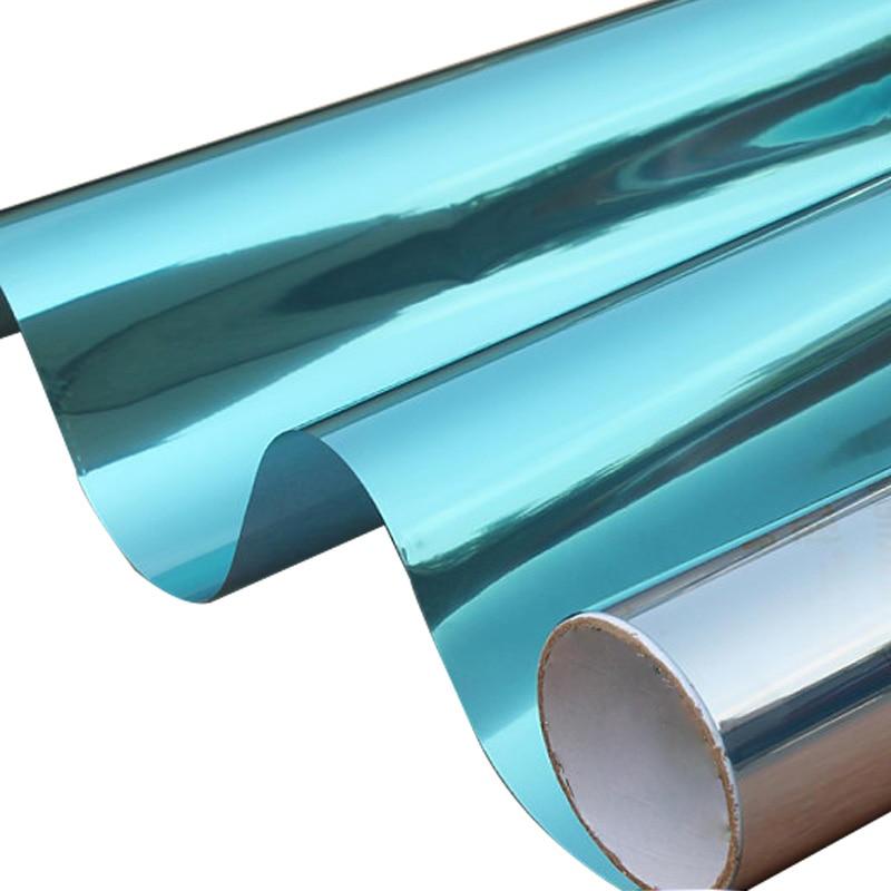One Way Privacy Window Film >> Blue Silver Reflective One Way Mirror Window Film Mirrored Privacy Sticky Glass Tint 1.52mx30m ...