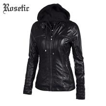 Rosetic Готический пальто из искусственной кожи женские толстовки зима осень мотоциклетная куртка черная верхняя одежда искусственная кожа полиуретан куртка пальто Горячая