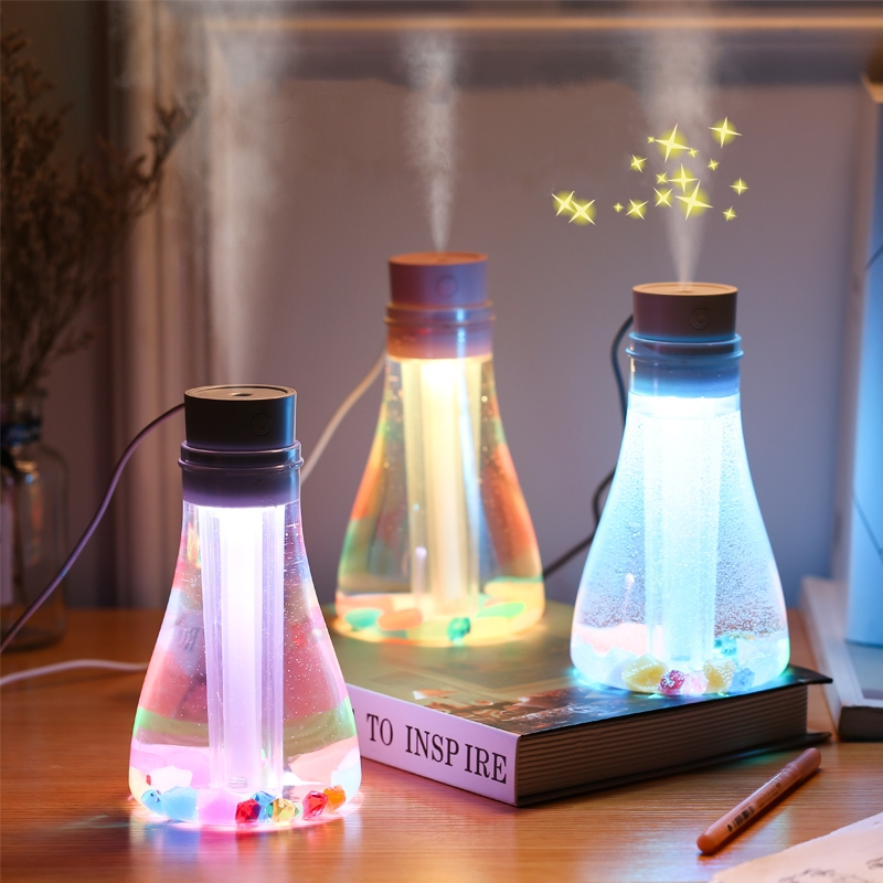 500 ml usb umidificador de ar ultra-sônico névoa criador fogger com luzes led coloridas casa elétrica aroma difusor mini usb umidificador