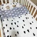 Новые Прибыл Baby Bedding Set Горячая Ins Кроватки Постельного Белья 3 шт. baby Bedding set (наволочка + простыня + пододеяльник) без Заполнения