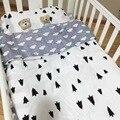 New chegou baby bedding set hot ins bedding set roupa de cama berço 3 pcs bebê (fronha + lençol + capa de edredon) sem Enchimento