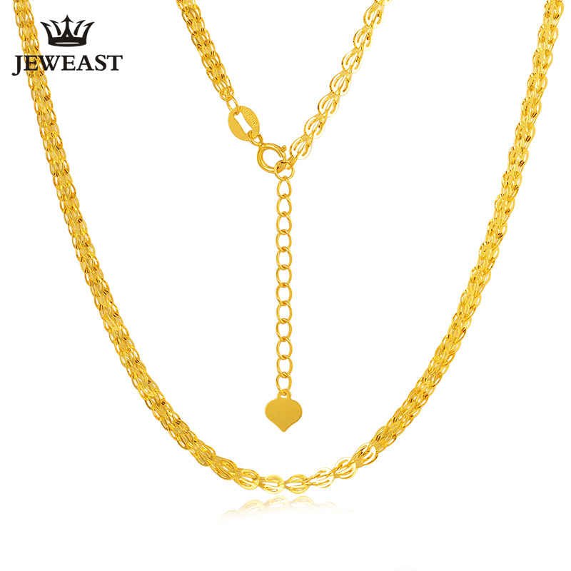 18K gold necklace Pterisaur necklace color gold clavicle necklace adjustable heart core tail gold necklace female models classic каталог pink lipstick