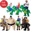 Inflatable Halloween Costume For Adult Kids Fan T Rex Gorilla Sumo Cow Horse Cowboy Unicorn Dinosaur