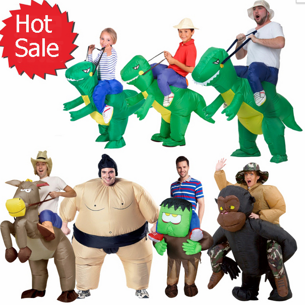 inflatable halloween costume for adult kids fan t rex gorilla sumo cow horse cowboy dinosaur inflatable costume on aliexpresscom alibaba group